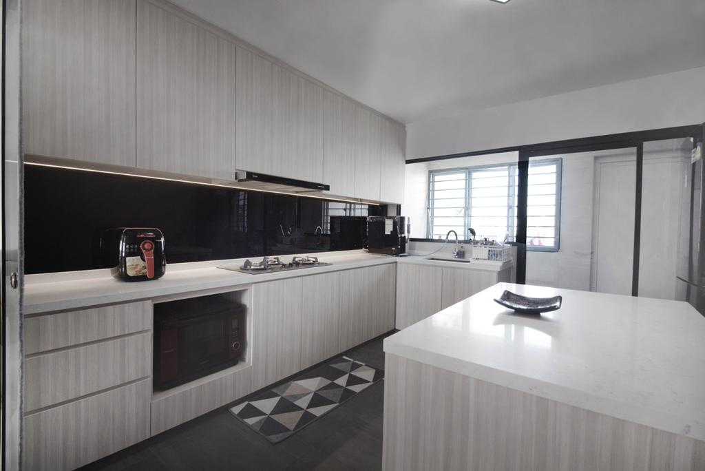 Scandinavian, HDB, Kitchen, Jurong West Street 81, Interior Designer, 13th Design Studio, Modern