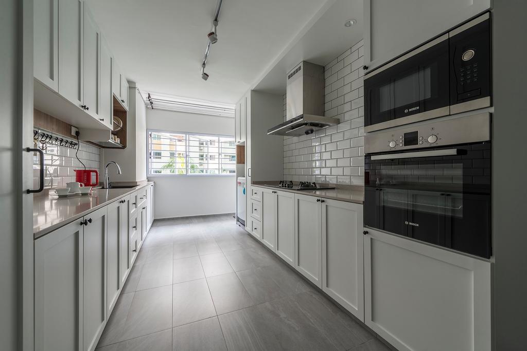 Contemporary, HDB, Kitchen, Telok Blangah Drive, Interior Designer, 13th Design Studio