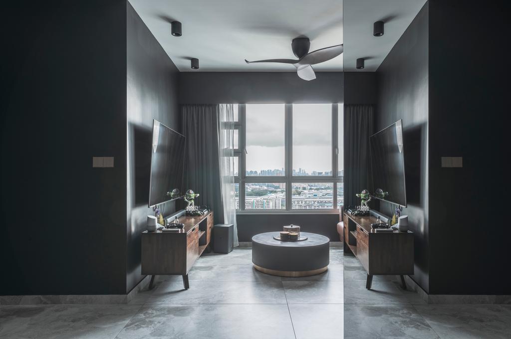 Contemporary, HDB, Living Room, Ang Mo Kio Avenue 3, Interior Designer, 13th Design Studio