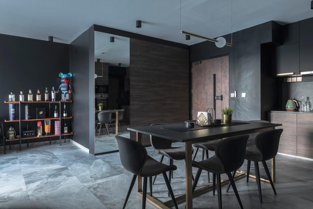 Contemporary, HDB, Dining Room, Ang Mo Kio Avenue 3, Interior Designer, 13th Design Studio