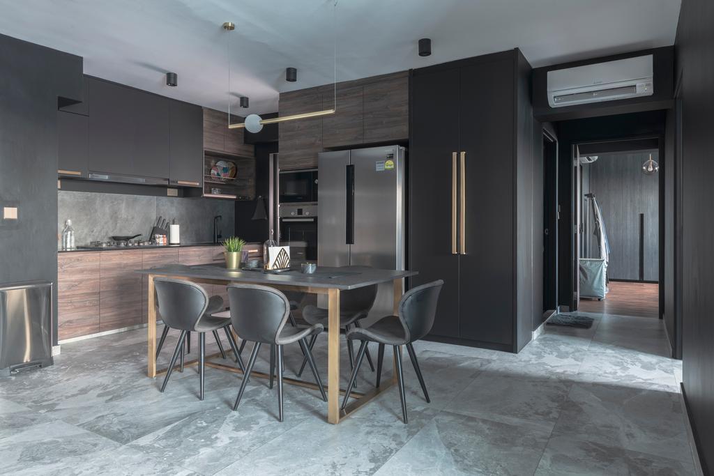 Contemporary, HDB, Kitchen, Ang Mo Kio Avenue 3, Interior Designer, 13th Design Studio