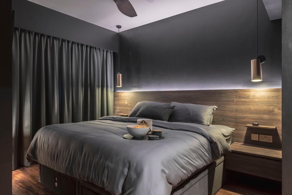 Contemporary, HDB, Bedroom, Ang Mo Kio Avenue 3, Interior Designer, 13th Design Studio
