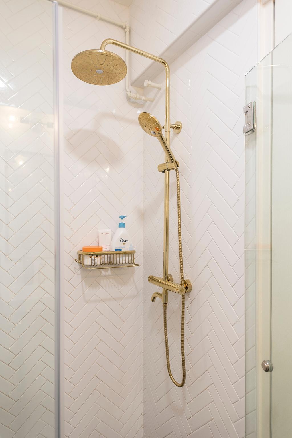 Scandinavian, HDB, Bathroom, Compassvale Crescent, Interior Designer, 13th Design Studio