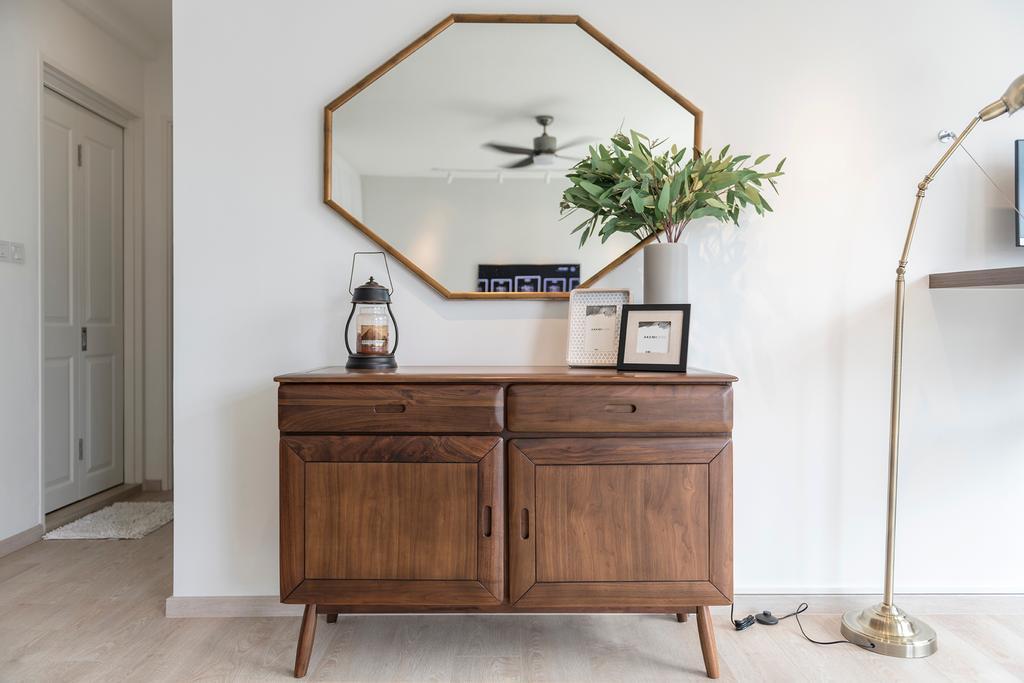 Scandinavian, HDB, Bedroom, Compassvale Crescent, Interior Designer, 13th Design Studio