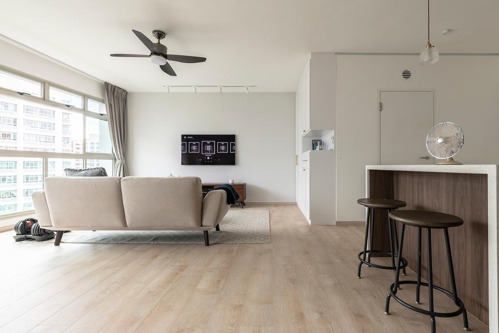 Scandinavian, HDB, Living Room, Compassvale Crescent, Interior Designer, 13th Design Studio