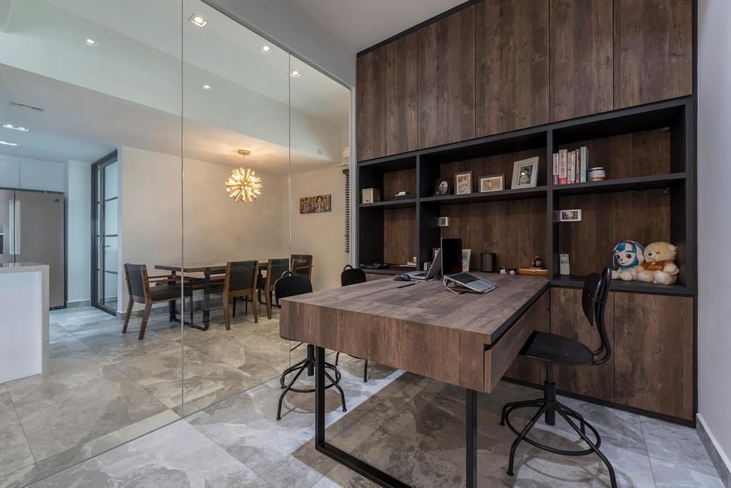 Modern, Condo, Study, The Anchorage, Interior Designer, 13th Design Studio, Contemporary