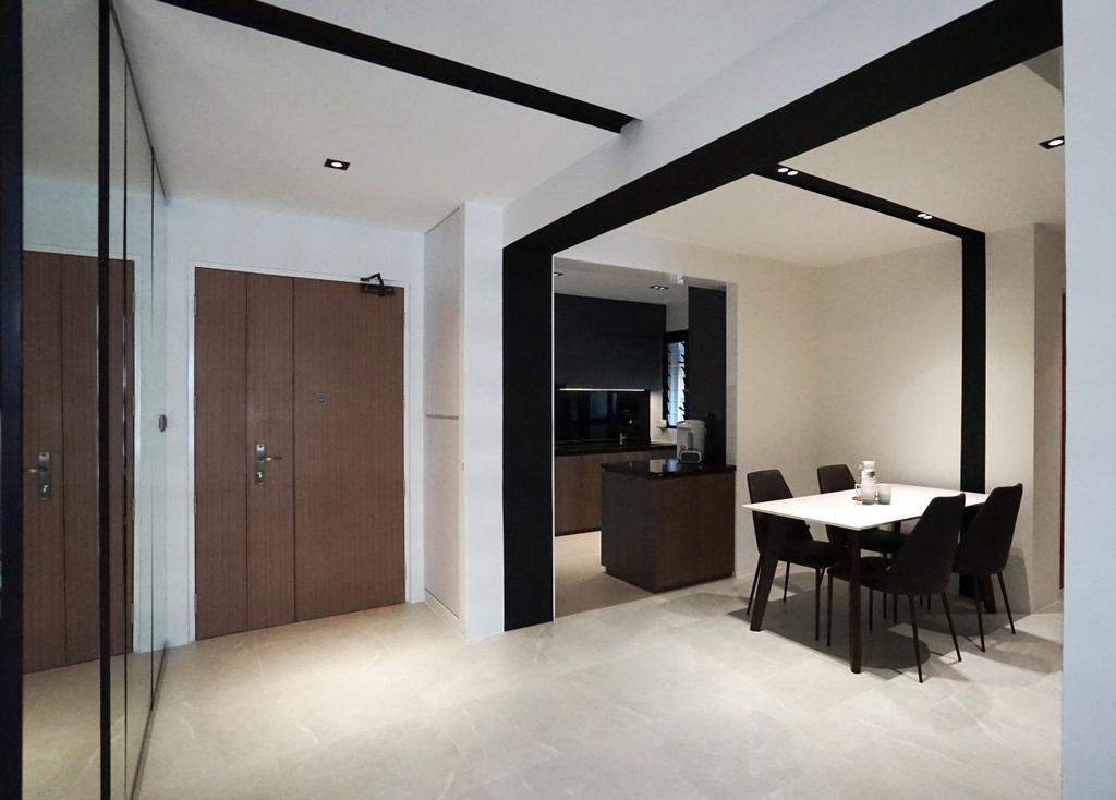 Contemporary, HDB, Dining Room, Tampines North Drive 1 (Block 610A), Interior Designer, Metamorph Design