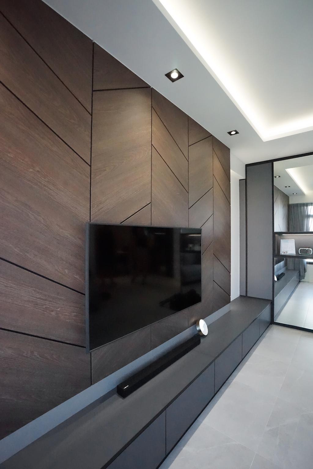 Contemporary, HDB, Living Room, Tampines North Drive 1 (Block 610A), Interior Designer, Metamorph Design