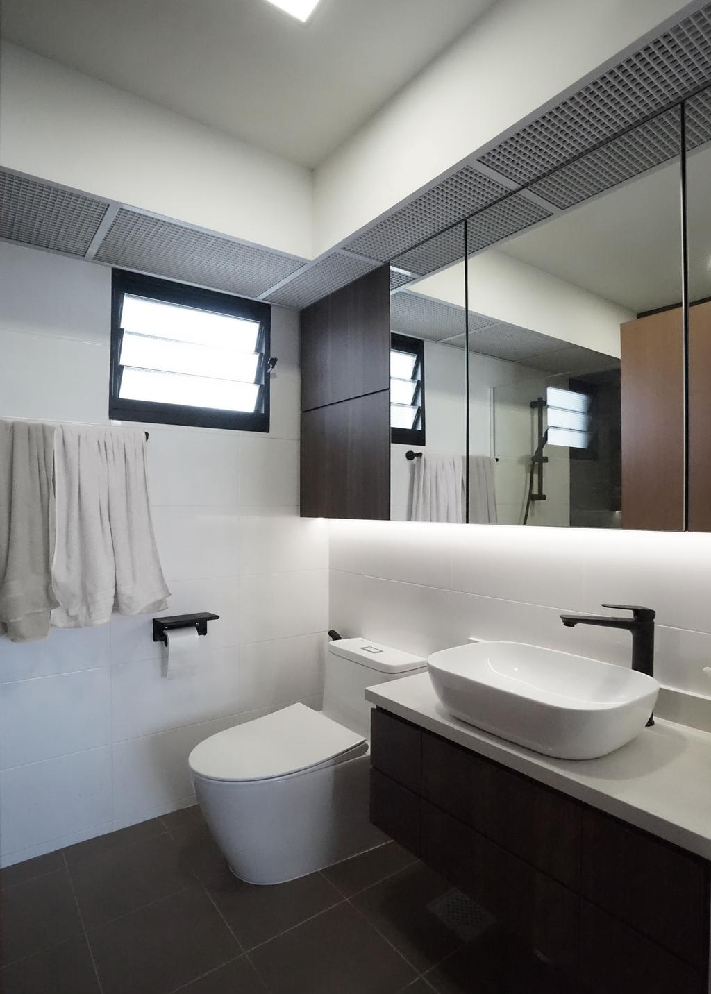 Contemporary, HDB, Bathroom, Tampines North Drive 1 (Block 610A), Interior Designer, Metamorph Design