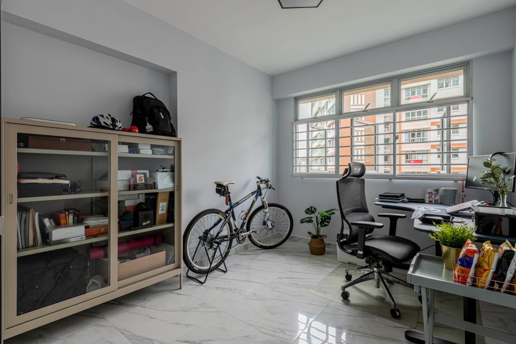 Modern, HDB, Study, Anchorvale Lane, Interior Designer, Urban Home Design 二本設計家, Contemporary
