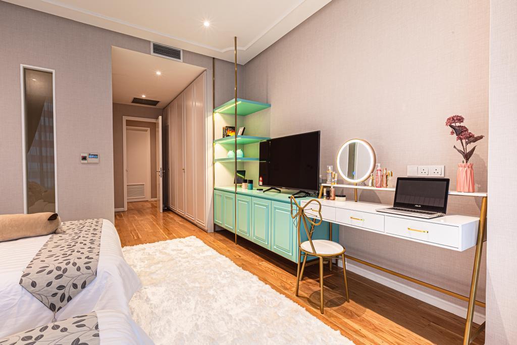 Modern, Condo, Bedroom, Oval Residence KL, Interior Designer, Design Aid Sdn. Bhd.