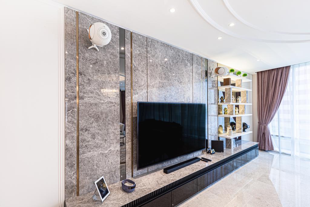 Modern, Condo, Living Room, Oval Residence KL, Interior Designer, Design Aid Sdn. Bhd.