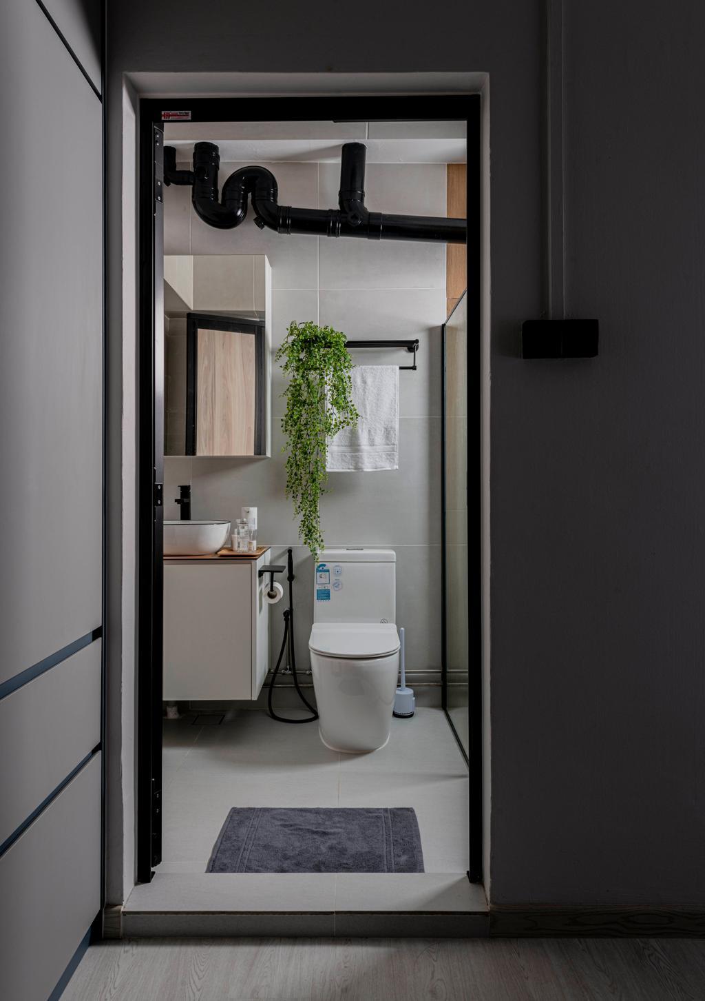 Scandinavian, HDB, Bathroom, Sembawang Close, Interior Designer, Urban Home Design 二本設計家
