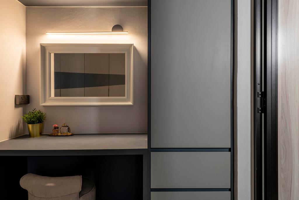 Scandinavian, HDB, Bedroom, Sembawang Close, Interior Designer, Urban Home Design 二本設計家