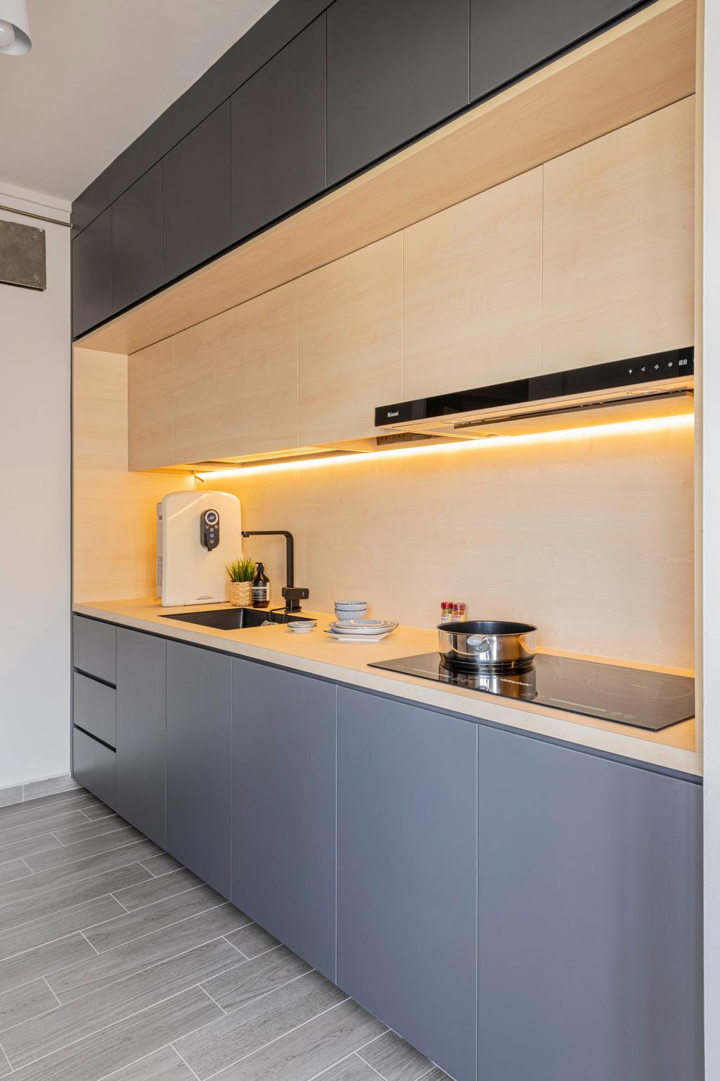 Scandinavian, HDB, Kitchen, Sembawang Close, Interior Designer, Urban Home Design 二本設計家
