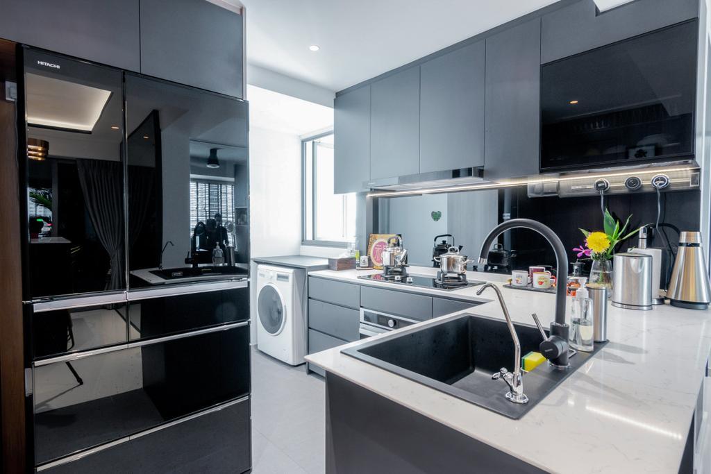 Modern, HDB, Kitchen, Toa Payoh Lorong 1A, Interior Designer, 9 Creation, Contemporary
