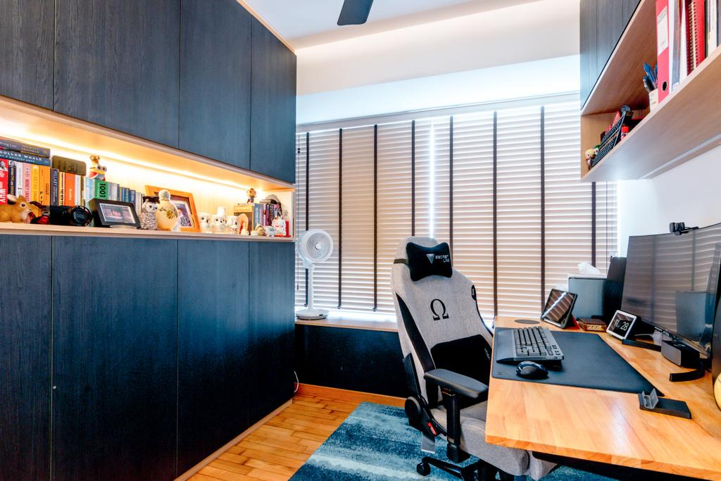 Modern, HDB, Study, Toa Payoh Lorong 1A, Interior Designer, 9 Creation, Contemporary