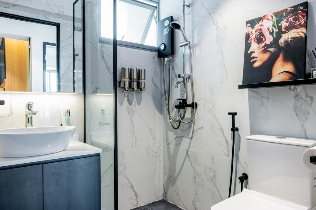 Modern, HDB, Bathroom, Toa Payoh Lorong 1A, Interior Designer, 9 Creation, Contemporary