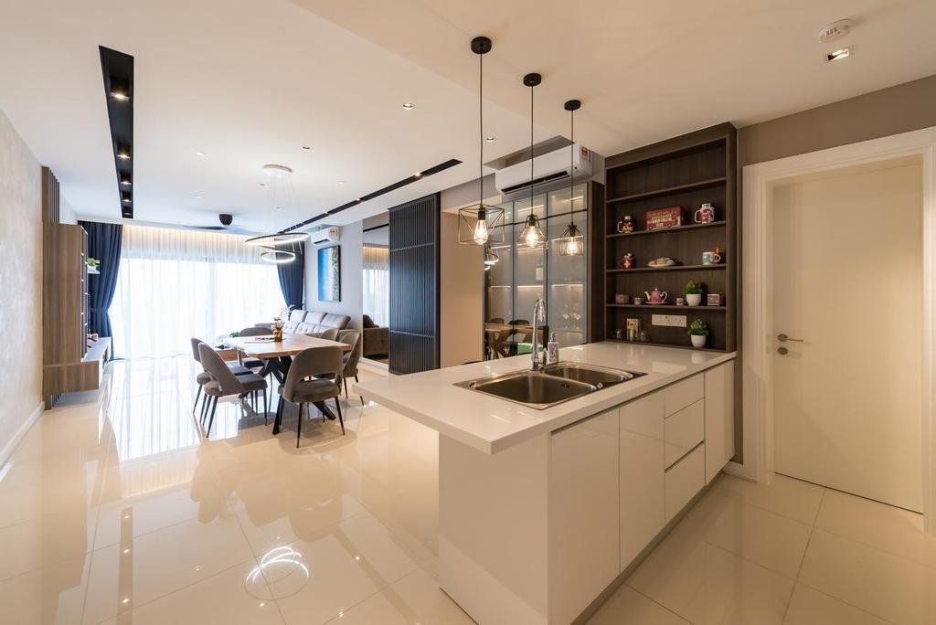 Modern, Condo, Kitchen, Westside lll Condominium, Desa Parkcity, Interior Designer, Solid Design Studio, Contemporary
