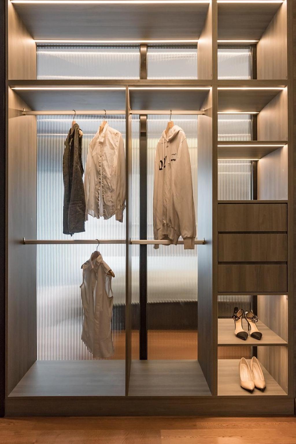 Modern, Condo, Bedroom, Westside lll Condominium, Desa Parkcity, Interior Designer, Solid Design Studio, Contemporary