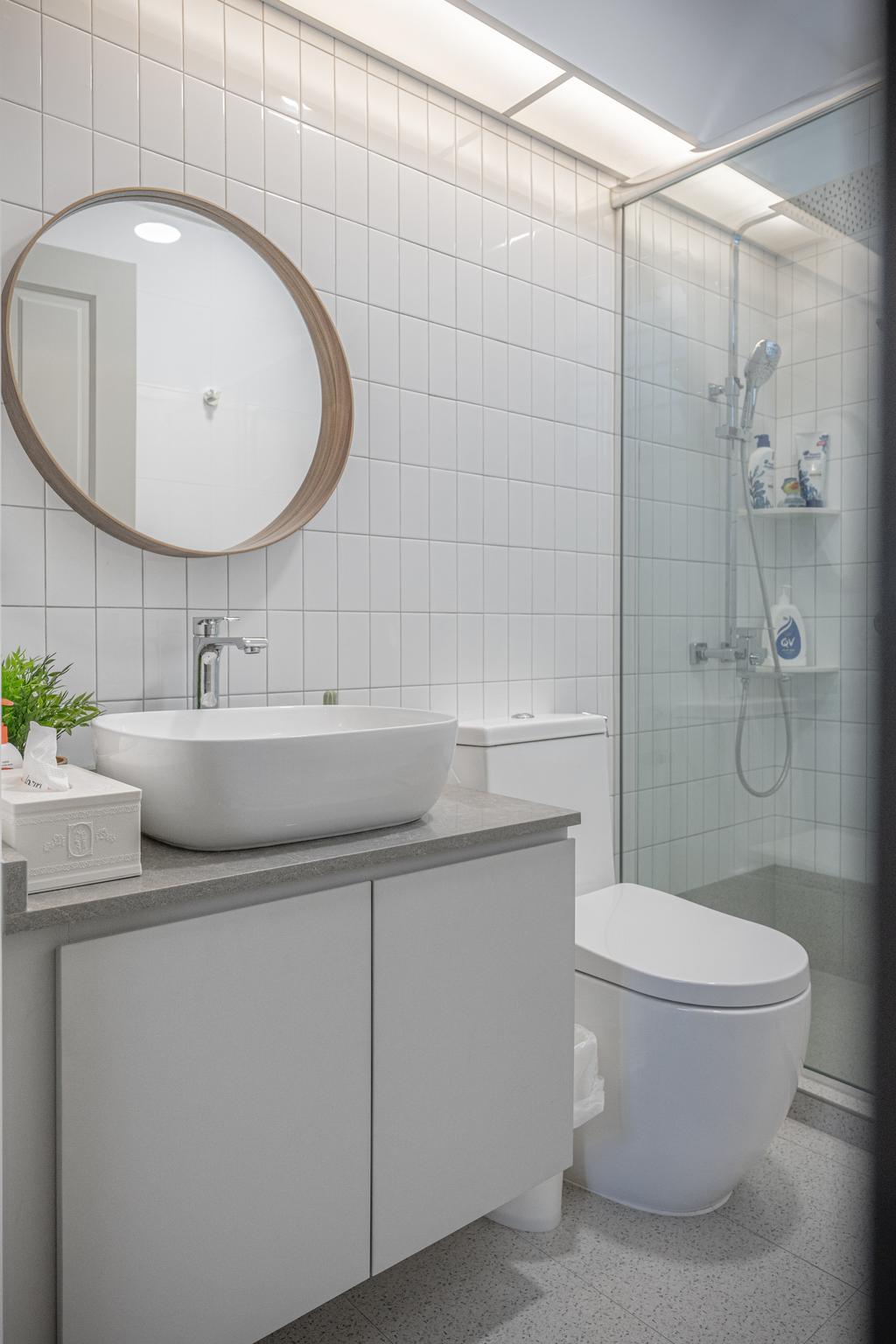 Contemporary, HDB, Bathroom, Punggol Central, Interior Designer, Luova Project Services