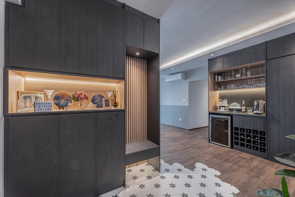 Contemporary, HDB, Living Room, Punggol Central, Interior Designer, Luova Project Services