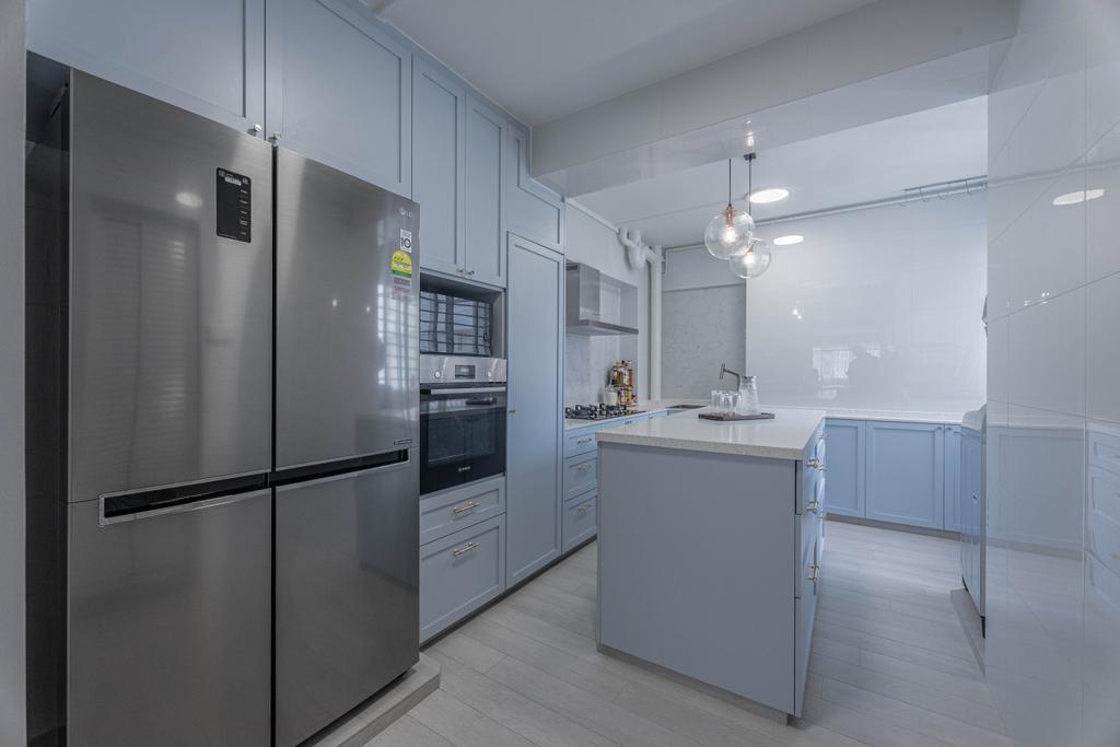 Modern, HDB, Kitchen, Hougang Street 51, Interior Designer, Luova Project Services