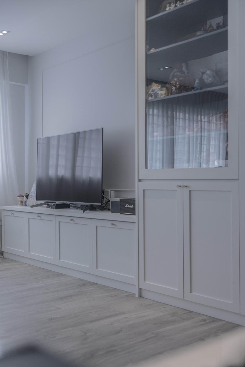 Modern, HDB, Living Room, Hougang Street 51, Interior Designer, Luova Project Services