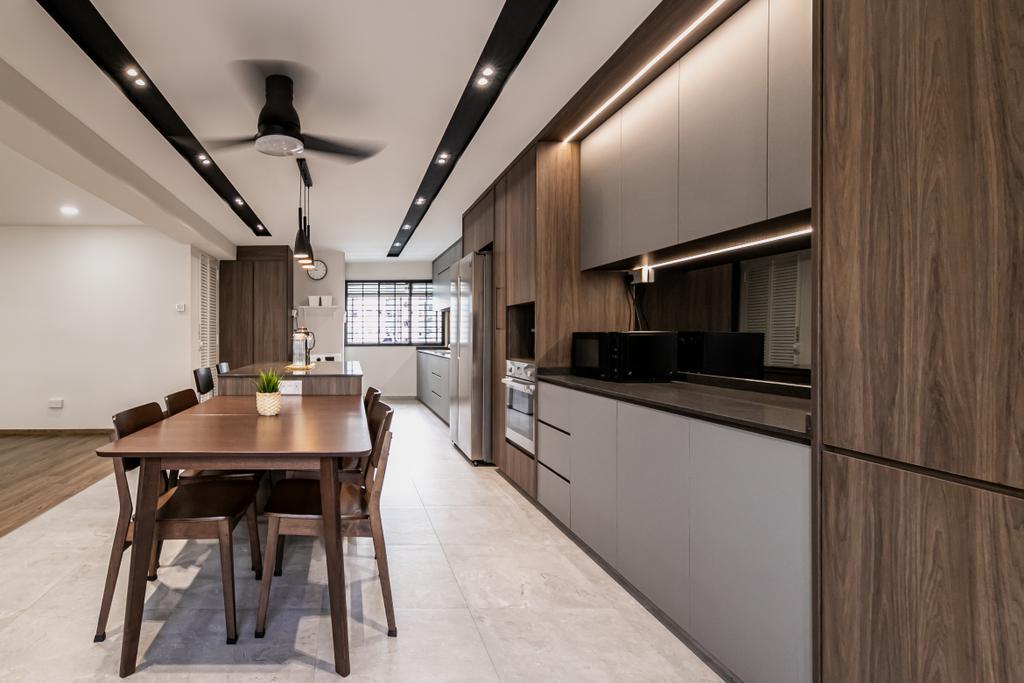 Modern, HDB, Kitchen, Pasir Ris, Interior Designer, Space Atelier, Contemporary