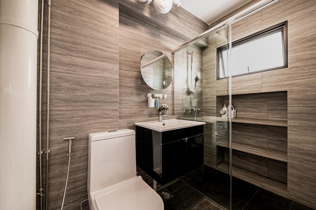Modern, HDB, Bathroom, Pasir Ris, Interior Designer, Space Atelier, Contemporary