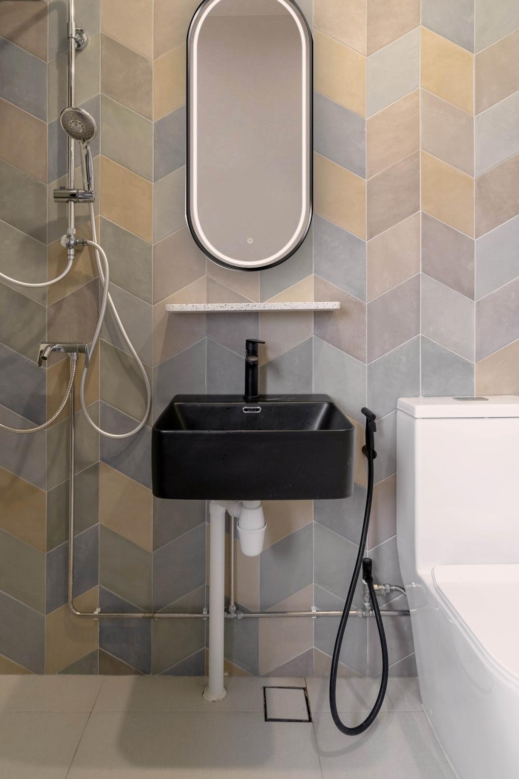 Contemporary, HDB, Bathroom, Jalan Rumah Tinggi, Interior Designer, The Makers Design Studio