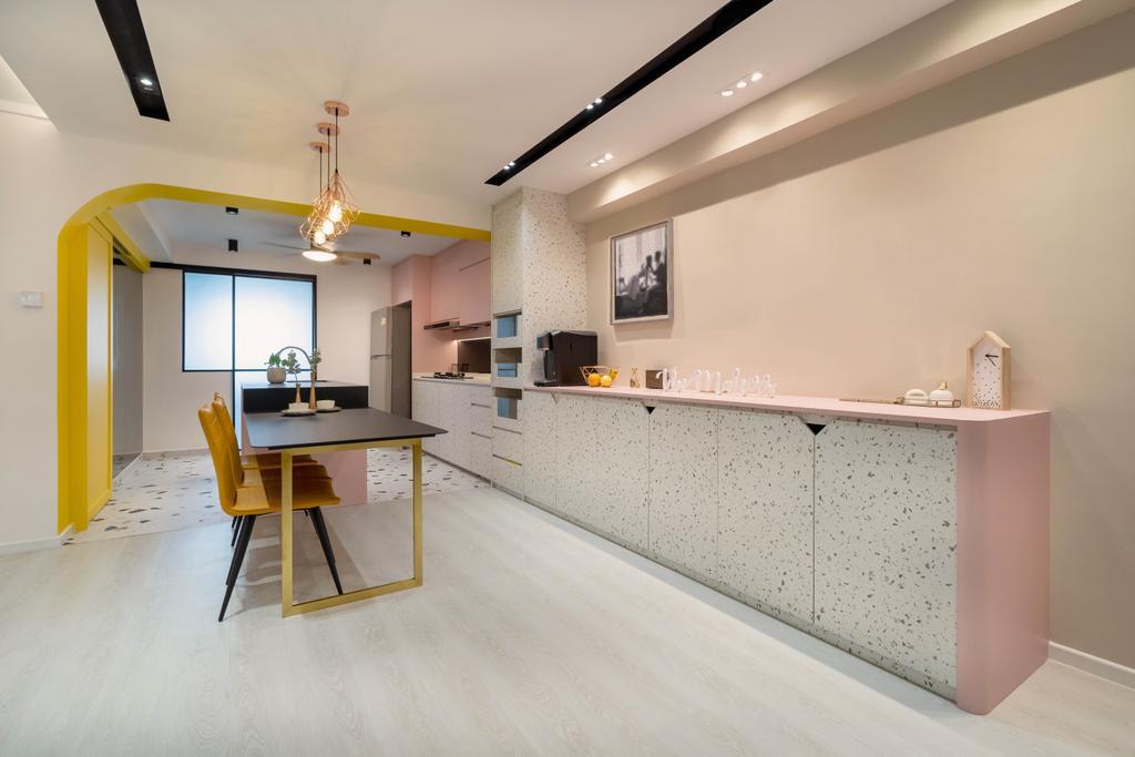 Contemporary, HDB, Dining Room, Jalan Rumah Tinggi, Interior Designer, The Makers Design Studio
