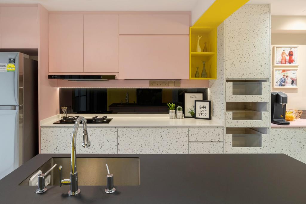 Contemporary, HDB, Kitchen, Jalan Rumah Tinggi, Interior Designer, The Makers Design Studio