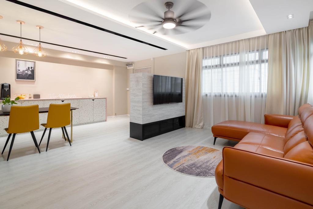 Contemporary, HDB, Living Room, Jalan Rumah Tinggi, Interior Designer, The Makers Design Studio