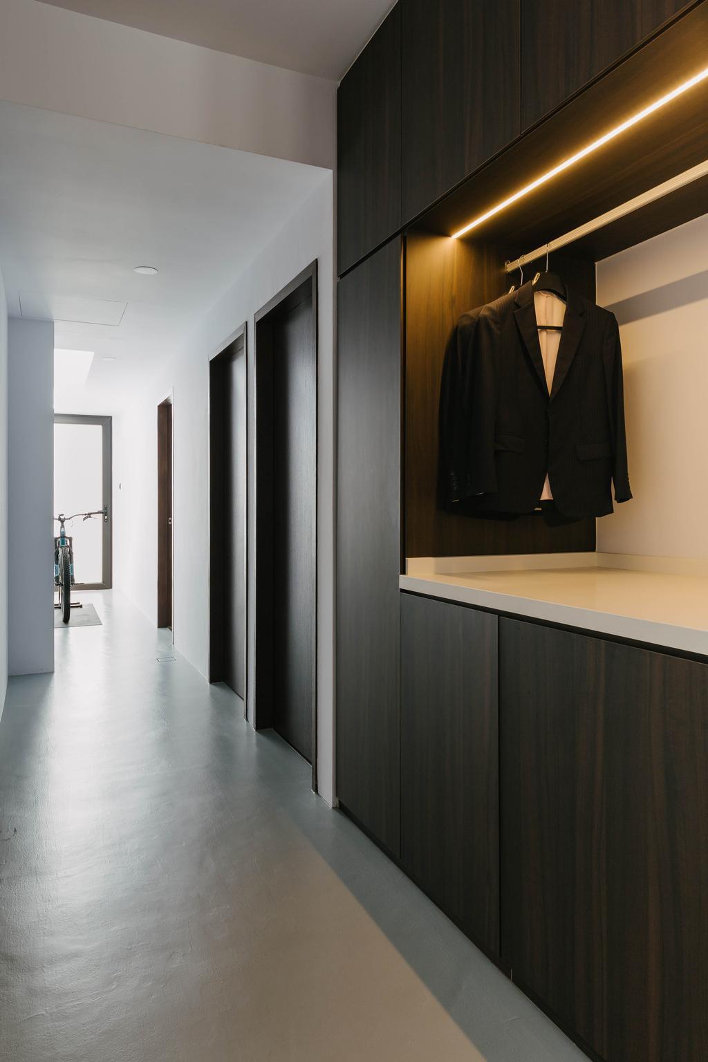 Contemporary, Landed, Bedroom, Jalan Aruan, Interior Designer, Forefront Interior, Wardrobe, Walk In Wardrobe