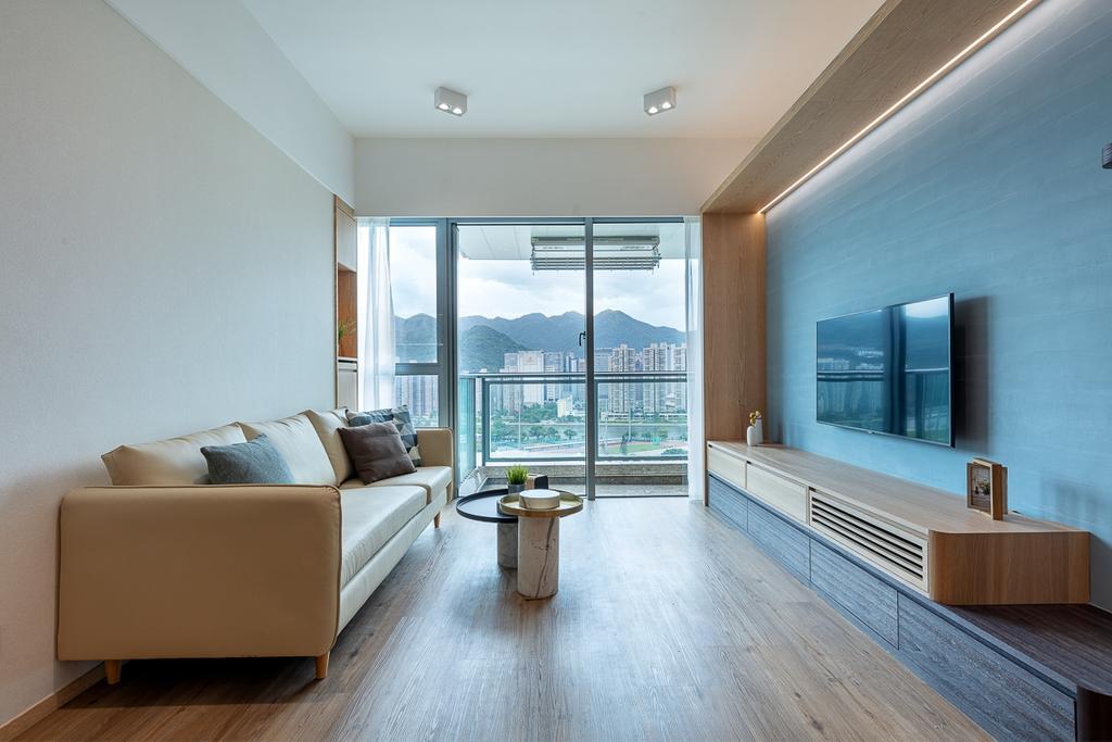 簡約, 私家樓, 客廳, 御龍山, 室內設計師, am PLUS