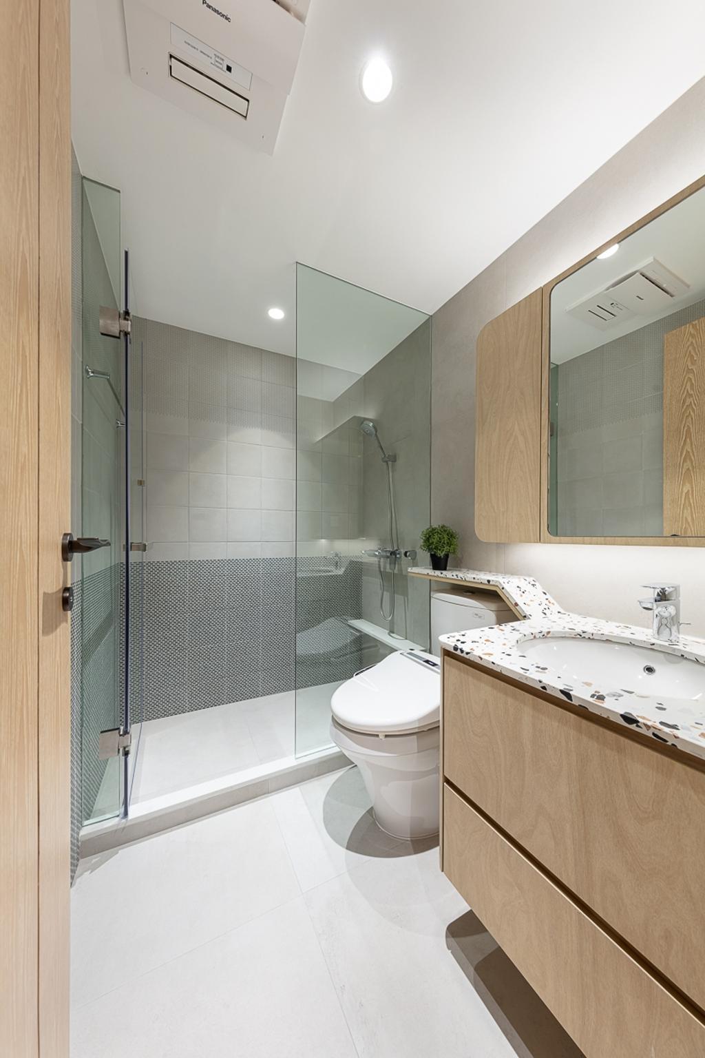 簡約, 私家樓, 浴室, 御龍山, 室內設計師, am PLUS