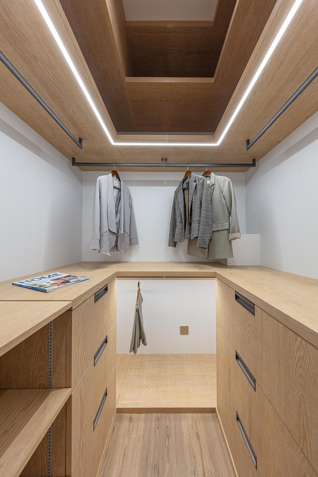 簡約, 私家樓, 睡房, 御龍山, 室內設計師, am PLUS