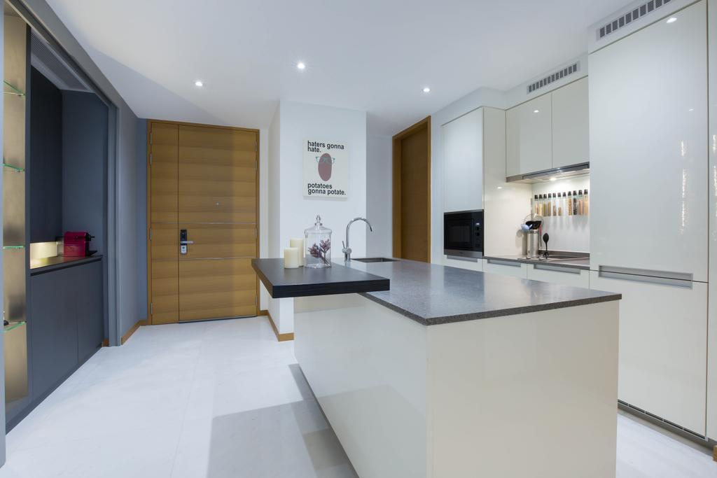 Contemporary, Condo, Kitchen, One Marina Residences, Interior Designer, Inizio Atelier