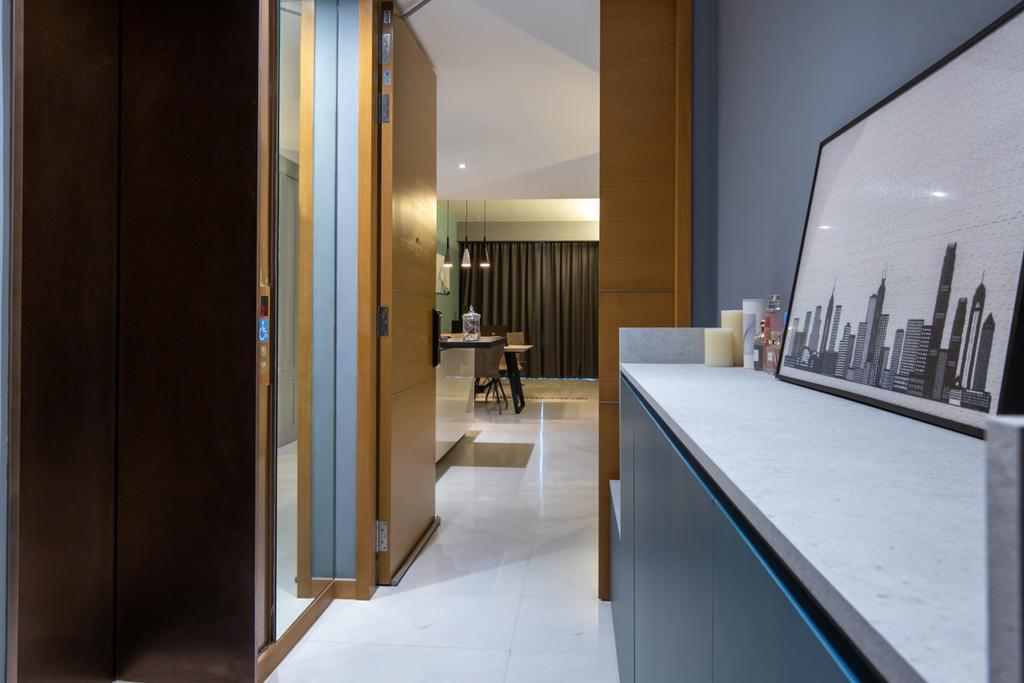 Contemporary, Condo, Living Room, One Marina Residences, Interior Designer, Inizio Atelier