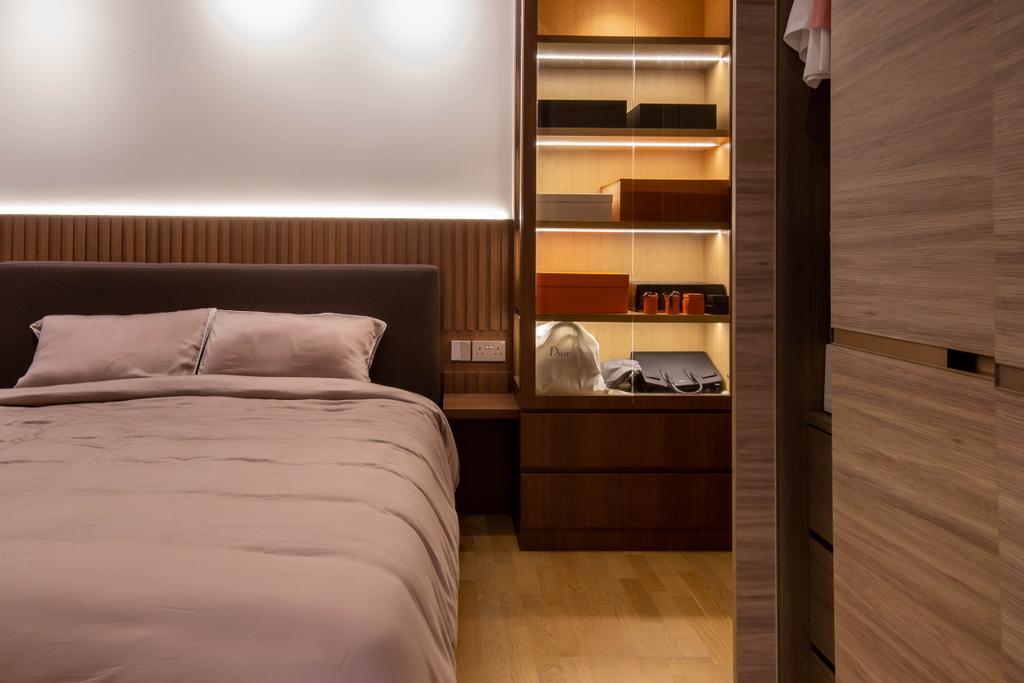 Scandinavian, Condo, Bedroom, Stars of Kovan, Interior Designer, Orange Interior, Contemporary