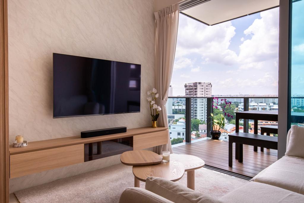 Scandinavian, Condo, Living Room, Stars of Kovan, Interior Designer, Orange Interior, Contemporary