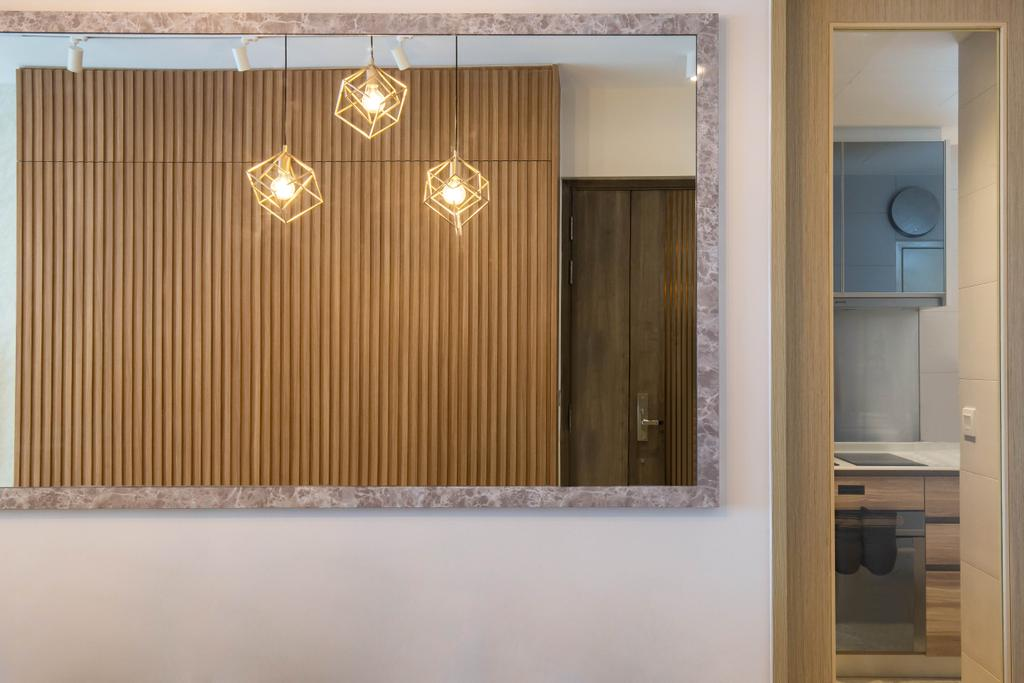 Scandinavian, Condo, Kitchen, Stars of Kovan, Interior Designer, Orange Interior, Contemporary