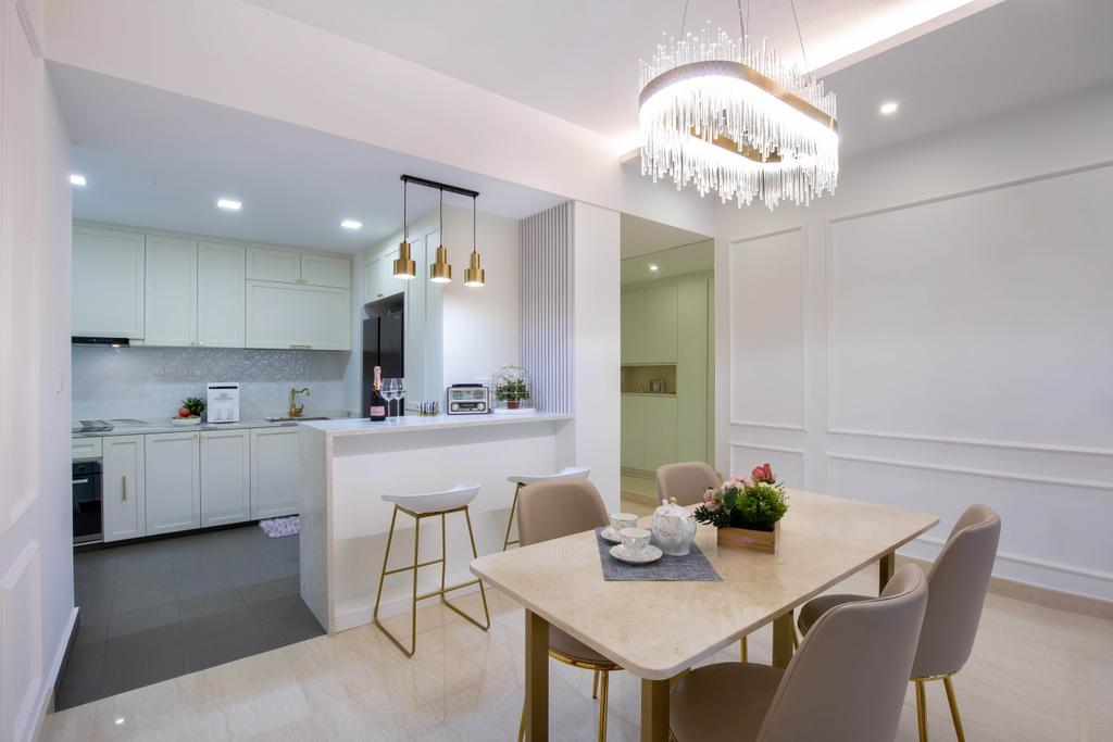 Modern, Condo, Dining Room, Sunrise Gardens, Interior Designer, Inizio Atelier, Contemporary