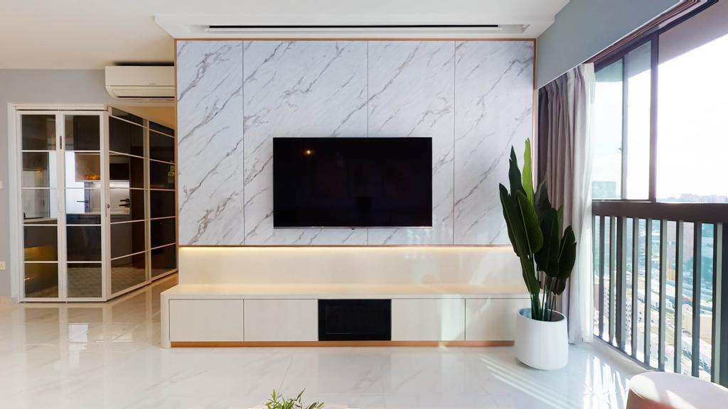 Contemporary, HDB, Living Room, Pinnacle @ Duxton, Interior Designer, Posh Home