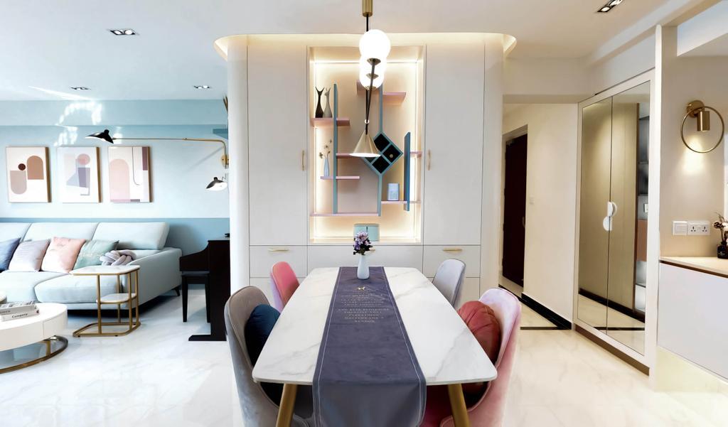 Contemporary, HDB, Dining Room, Pinnacle @ Duxton, Interior Designer, Posh Home