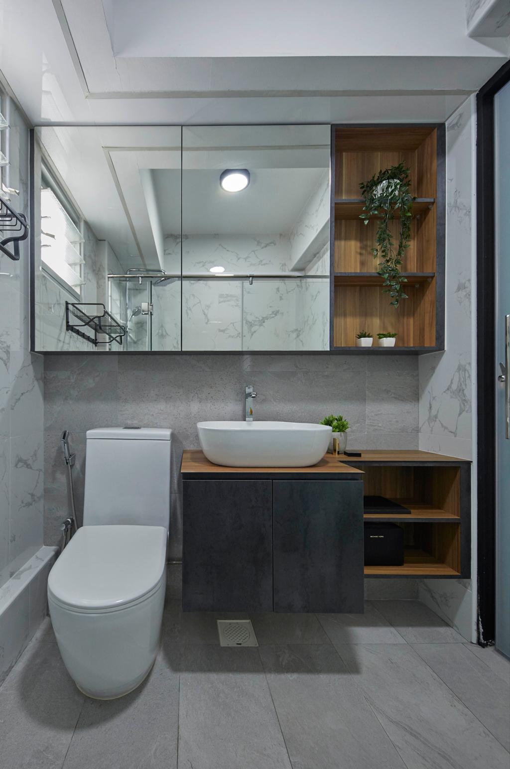 Contemporary, HDB, Bathroom, Sengkang West Way, Interior Designer, The Interior Lab
