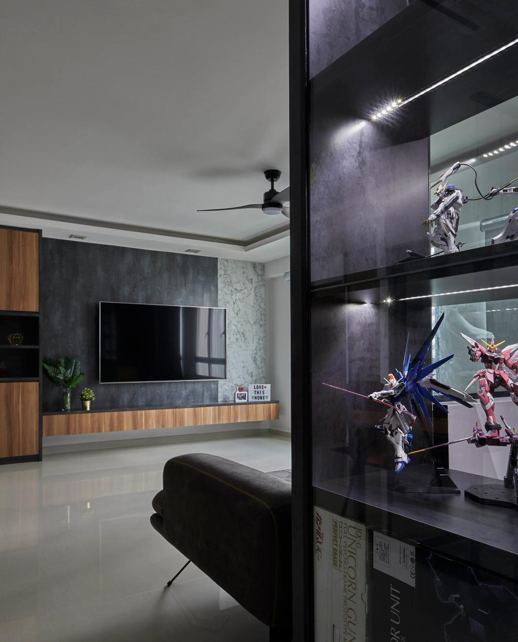 Contemporary, HDB, Living Room, Sengkang West Way, Interior Designer, The Interior Lab