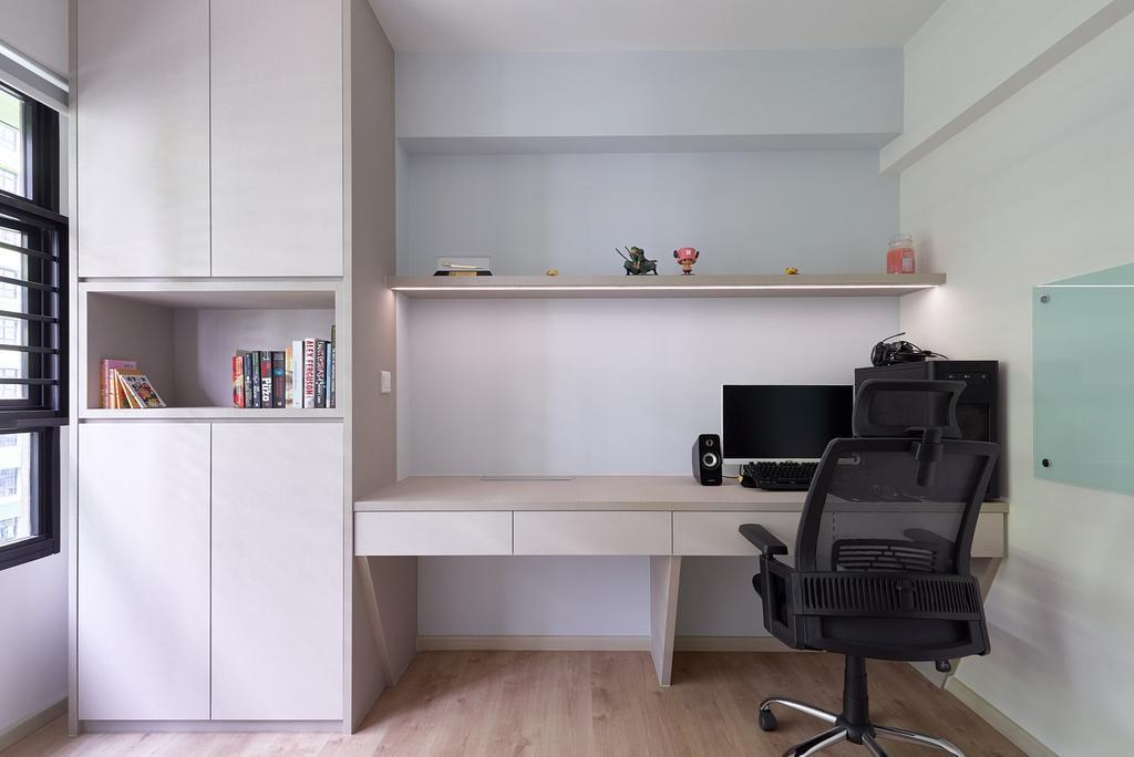 Modern, HDB, Study, Tampines Avenue 9 (Block 601C), Interior Designer, Roughsketch, Contemporary