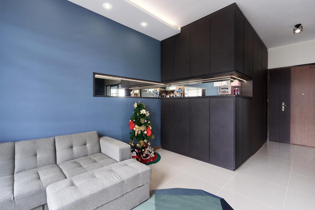 Modern, HDB, Living Room, Bukit Batok Avenue 9, Interior Designer, Roughsketch, Contemporary